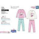 Peppa Pig -langer Pyjama bedruckt 100% Baumwolle