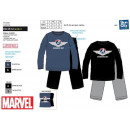 Avengers CLASSIC - langer korallenroter Pyjama aus