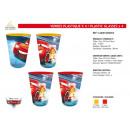Cars - 4 rész műanyag poharak