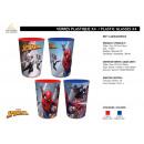 Spiderman - 4 Stück Plastikglas