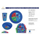 wholesale Toys: PYJAMASQUES - 3 piece plastic breakfast set