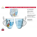 wholesale Houshold & Kitchen: Mickey - mug with spoon pvc box