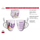 grossiste Maison et cuisine: MICKEY - mug avec cuilliere pvc box
