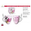 MICKEY - mug avec cuilliere pvc box