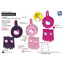 wholesale Scarves, Hats & Gloves: Hello Kitty - set 2 pieces earplug & glove