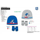 Sonic - set 2 pieces hat & gloves multi
