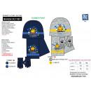 groothandel Sportkleding: Pac Man - set 3  stuks sjaal en handschoenen en pet