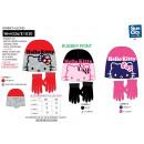 Hello Kitty - set 2 pieces hat & gloves multi