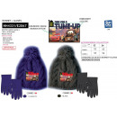wholesale Scarves, Hats & Gloves: Cars - set 2 pieces hat & gloves multi