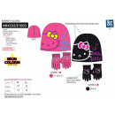 HELLO KITTY - set 2 pièces bonnet & gants multi