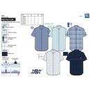 grossiste Vetement et accessoires: NEWMAN BRANDS - chemise manches courtes 65% cotton
