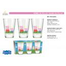 Großhandel Bilder & Rahmen: Peppa Pig - 23,7cl Glas 3 Teile