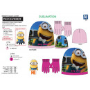 Minions - set 2 pieces hat & gloves 100% p