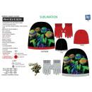 TORTUES NINJA - set 2 pièces bonnet & gants 100% p