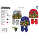 TORTUES NINJA - set 2 pièces bonnet & gants 100%