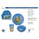 Paw Patrol - 3 piece plastic breakfast set