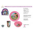 groothandel Tafellinnen: Paw Patrol -  plastic lunch set 3 delen
