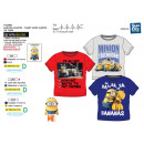 wholesale Licensed Products: Minions - Short  Cuff T-Shirt 100% coton