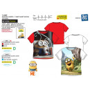 grossiste Articles sous Licence: MINIONS - t-shirt  manchette courtes sublime 65% po