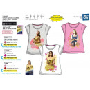 wholesale Licensed Products: BELLE MOVIE - Short Cuff T-Shirt 100% coton