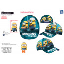 Minions - sublimated 100% polyester cap