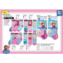 wholesale Licensed Products: frozen - pack 3 socks 70% cotton 18% polyest