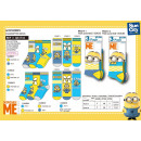 Minions - pack 3 socks 70% cotton 18% polyes