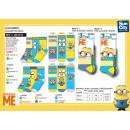 Großhandel Socken & Strumpfhosen: Minions - Pack 3 Socken 70% Baumwolle 18% Polyes