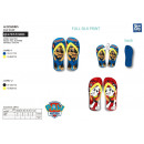 Paw Patrol - flip flop 100% polyester shoes