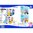 wholesale Stockings & Socks: Peppa Pig - pack 3  socks 70% cotton 18% poly