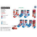 wholesale Socks and tights: Cars - pack 3 socks 40% co55% pe3