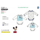 MICKEY - set 2 body 100% coton
