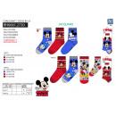 Großhandel Socken & Strumpfhosen: Mickey - Packung 3 Socken 70% Baumwolle 18% Polyes
