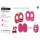 grossiste Vetement et accessoires: MINNIE - chaussons elastique 100% polyester