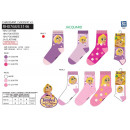 wholesale Socks and tights: TANGLED series - pack 3 socks 70% cotton 18%