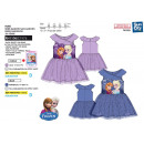 frozen - dress sm prints ruffles 75% cotton /