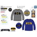 Batman T-Shirt hosszú ujjú T-Shirt 100% pamut szel