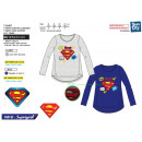 SUPERMAN - t-shirt manches longues 100% coton