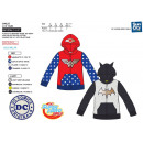 DC SUPER HERO GIRLS - 65% poly zipped hooded sweat