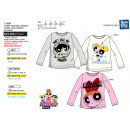 POWERPUFF GIRLS - T-Shirt manga larga 100% cot