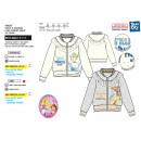 wholesale Licensed Products: Princess - full zip sweatshirt 95% cotton / 5% ela