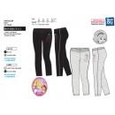 Princess - pantaloni 95% cotone / 5% elastan