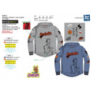 grossiste Vetements enfant et bebe: SCOOBIDOO - sweat capuche 65% polyester / 35% cott
