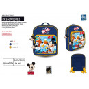 wholesale Licensed Products: Mickey - backpack 26,5x22x8cm 100% polyester