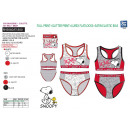 grossiste Sports & Loisirs: SNOOPY - ensemble brassiere & culotte 95% cotton /