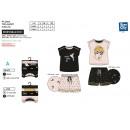 grossiste Vetement et accessoires: FEE CLOCHETTE - pyjacourt t-shirt & sh imprime 100