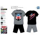 Großhandel Lizenzartikel: Avengers CLASSIC - Pyjacour T-Shirt & sh 100%