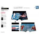 wholesale Underwear: Avengers CLASSIC - lot 2 boxers 89% pes 11% ela