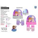 frozen - set 2 piezas sombrero y guantes 100% p