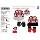 Minnie - 2-piece set bonnet & gloves 100% p